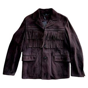 Burberry Prorsum Fall 2014 Brown Suede Jacket